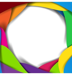 Abstract rainbow background overlap layer and vector