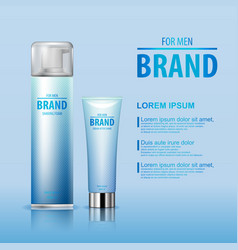 after shave cream and shaving foam set for man vector image vector image