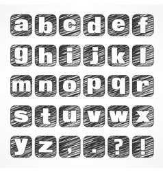 Alphabet icons on white vector image vector image