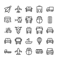 Automobile line icons 4 vector
