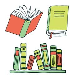Books color vector