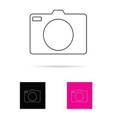 camera set icon vector image