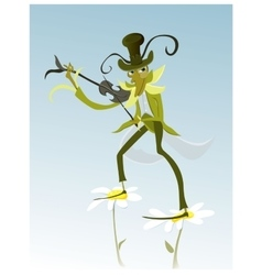 cartoon Grasshopper vector image