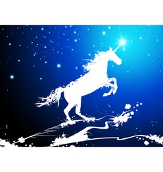 Christmas Magic Horse vector image vector image