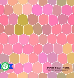 Colorful Honeycomb Seamless Background vector image vector image