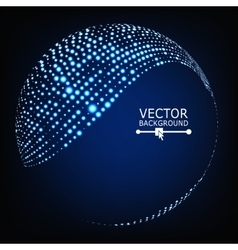Colorful Sphere Composition Glowing vector image