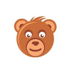 cute brown bear head vector image