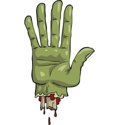 dead hand vector image