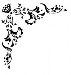 design corner element vector image