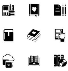 e book icon set vector image