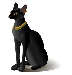 Egypt cat statue isolated vector