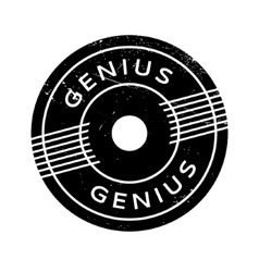 Genius rubber stamp vector