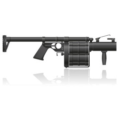 grenade gun 01 vector image vector image