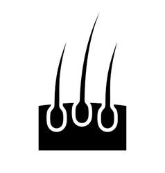 Hair follicle icon vector