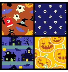 Happy Halloween pattern vector image