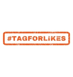 Hashtag Tagforlikes Rubber Stamp vector image vector image