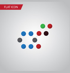 isolated chemical flat icon molecule vector image