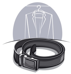 men leather belt vector image vector image