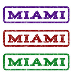 miami watermark stamp vector image