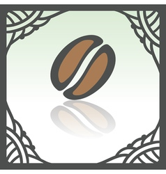 Outline coffee bean icon modern infographic logo vector