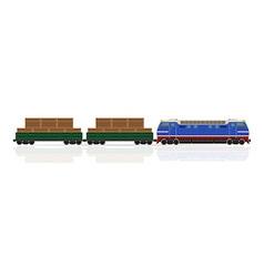 railway train 13 vector image vector image