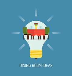 Room Ideas for a Dining Room vector image