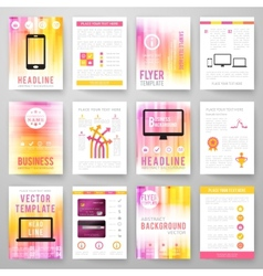 Set of abstract bright background for flyer vector