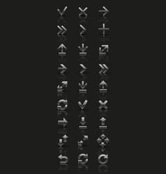 Set of silver icons vector image
