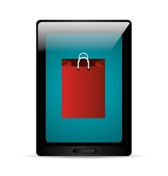 Technology tablet cyber monday bag vector