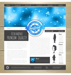 Watercolor seafood concept design vector