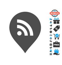 wi-fi marker icon with free bonus vector image vector image