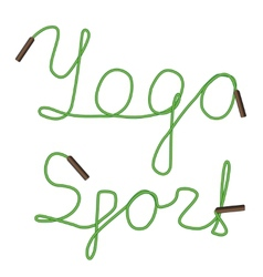 yoga sport vector image vector image