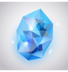 Blue crystal vector
