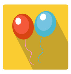 balloons for celebration icon flat style with long vector image