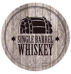 Banner with a barrel of whiskey in retro style vector