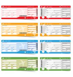 air ticket boarding in color vector image