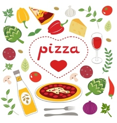 Pizza collection vector