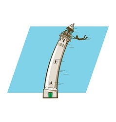 Windy lighthouse vector