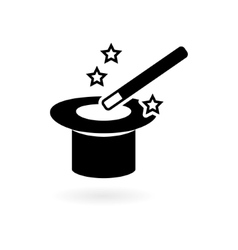 Magic wand with hat vector