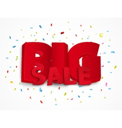 Big sale poster with colorful confetti vector