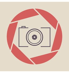 Photo camera icon shutter vector