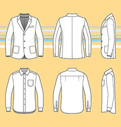 Simple outline drawing of a long sleeves shirt and vector image