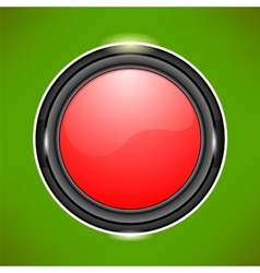 Red glass button vector