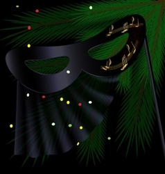 Black half mask and tree vector