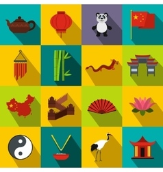 China flat icons vector
