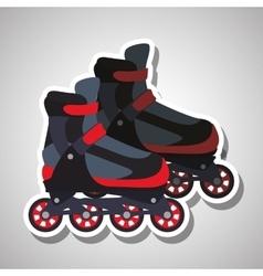 Roller skating design vector image