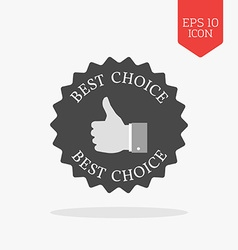 Best choice concept icon flat design gray color vector