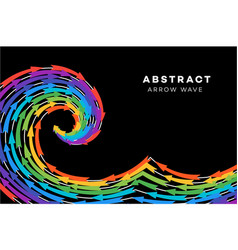 Abstract rainbow wave with arrows conceptual vector