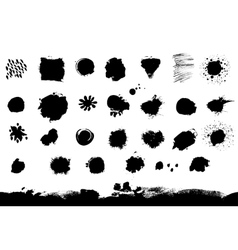 Big set of blotch and spots vector