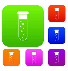blood test set color collection vector image